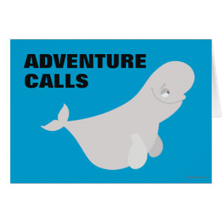 Bailey the Beluga Whale Card