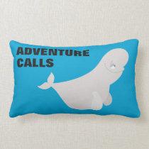 Bailey the Beluga Whale Lumbar Pillow