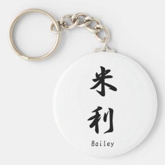 Bailey tradujo a símbolos japoneses del kanji llavero