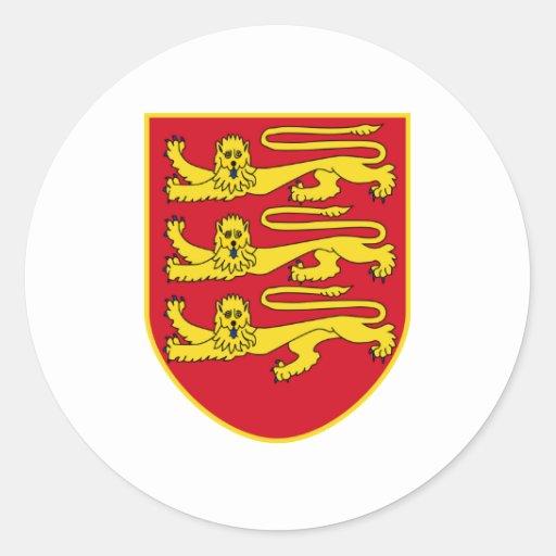 Bailía de la heráldica oficial del escudo de armas pegatina redonda