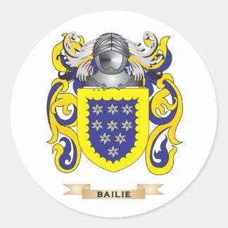 Bailie escudo de armas (escudo de la familia) pegatina redonda