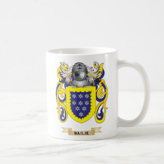 Bailie escudo de armas (escudo de la familia) taza de café