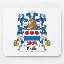 Baille Family Crest Mousepad
