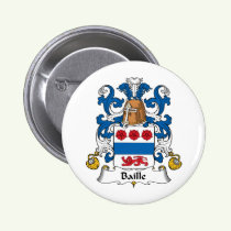Baille Family Crest Button