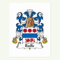 Baille Family Crest Postcard
