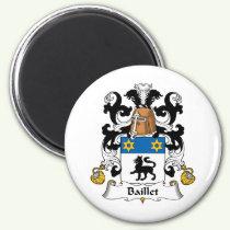 Baillet Family Crest Magnet