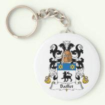 Baillet Family Crest Keychain