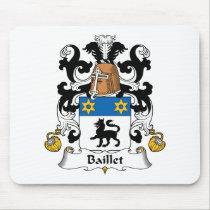 Baillet Family Crest Mousepad