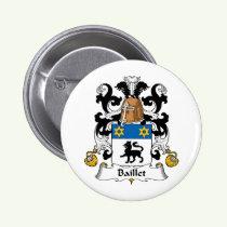 Baillet Family Crest Button