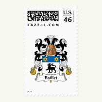 Baillet Family Crest Stamps