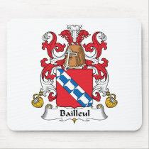 Bailleul Family Crest Mousepad