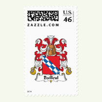 Bailleul Family Crest Stamps