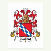 Bailleul Family Crest Postcard