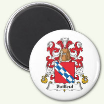 Bailleul Family Crest Magnet