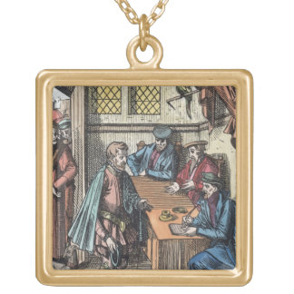 Bailliage, or Tribunal of the King's Bailiff, afte Square Pendant Necklace