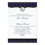 Baillie Tartan Plaid with Thistle Wedding Invites