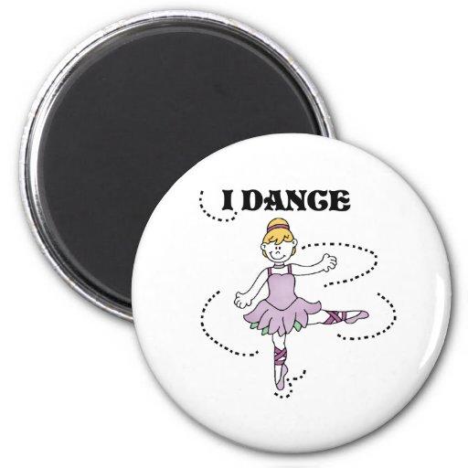 Bailo a la bailarina imán redondo 5 cm
