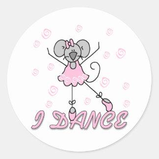 Bailo al pegatina del ballet del ratón