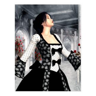 Bailo arte solo del romance gótico tarjeta postal