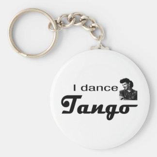 ¡Bailo diseño del tango! Llavero Redondo Tipo Pin