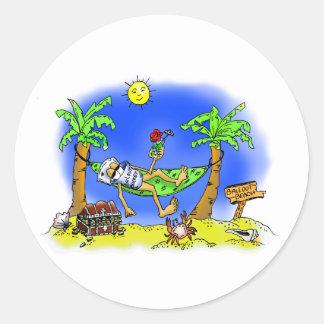 Bailout Beach Classic Round Sticker
