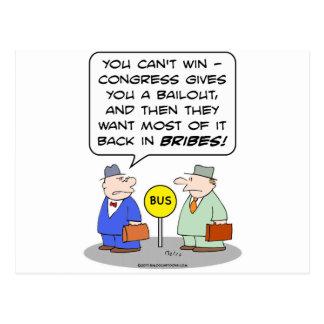 bailout congeress back bribes want postcard