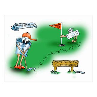Bailout Open - Golf Postcard
