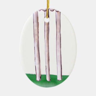 BAILS cricket, tony fernandes Ceramic Ornament