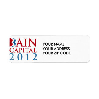 BAIN CAPITAL 2012 RETURN ADDRESS LABEL