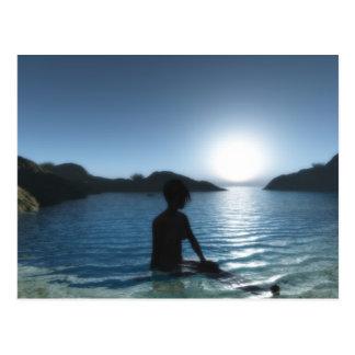 Bain de minuit(Full HD) Postcard