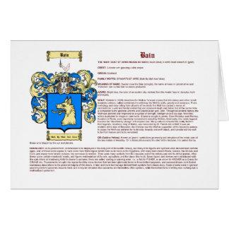 Bain (Escocia (significado)) Tarjeta Pequeña