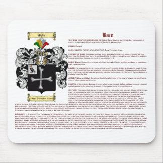 Bain (inglés (significado) mouse pads
