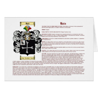 Bain (inglés (significado) tarjeta pequeña