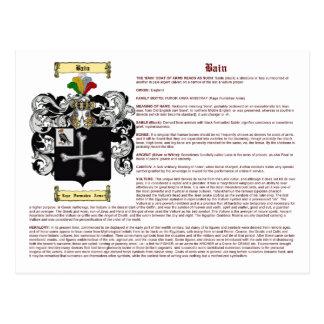 Bain (inglés (significado) tarjetas postales