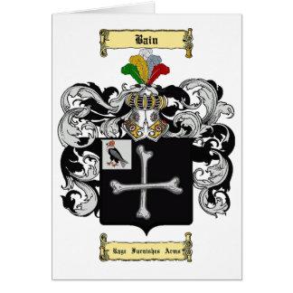 Bain (inglés) tarjeta pequeña
