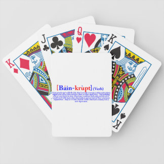 Bain-krupt (verb) bicycle playing cards