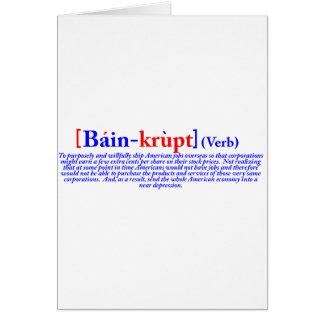 Bain-krupt (verb) card