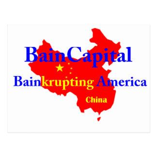 Bain-krupting America Postcard