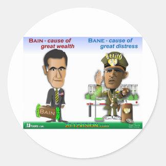 Bain vs. Bain Classic Round Sticker