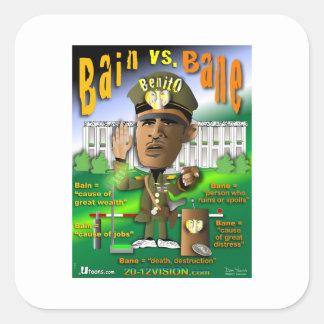 Bain vs. Bane Square Sticker