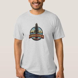 Bainbridge Island Circle Patch Shirts