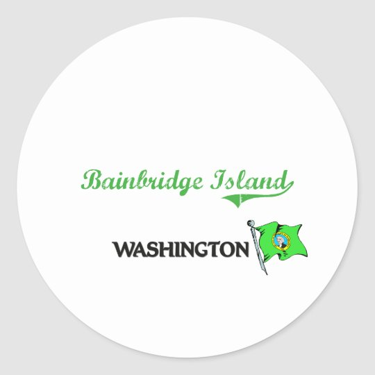 Bainbridge Island Washington City Classic Classic Round Sticker