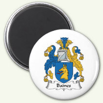Baines Family Crest Magnet