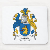 Baines Family Crest Mousepad
