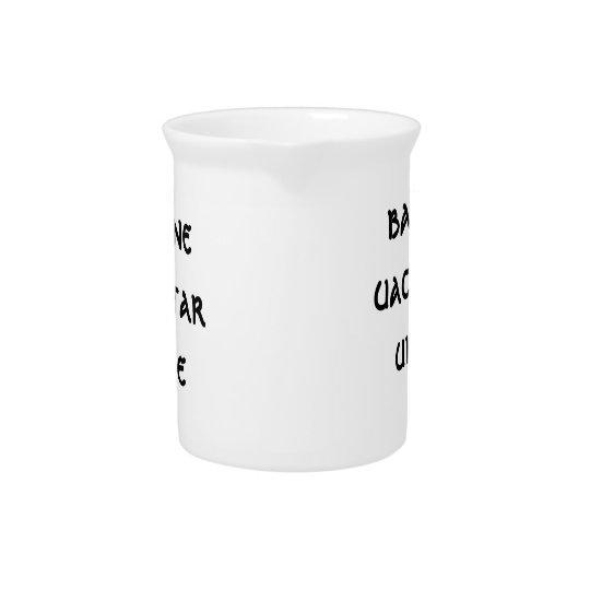 bainne, uachtar, uisce  MILK CREAM WATER Beverage Pitcher