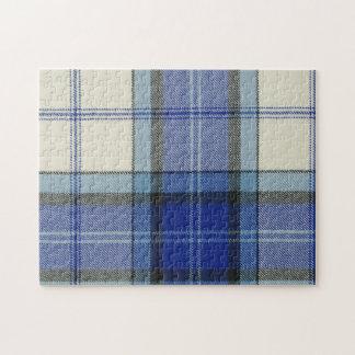 Baird Dress Blue Tartan Plaid Jigsaw Puzzle