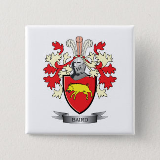 Baird Family Crest Coat of Arms Button