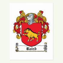 Baird Family Crest Postcard