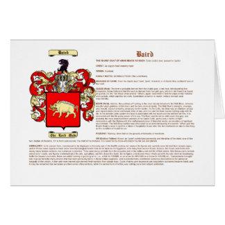 Baird (significado) tarjeta pequeña