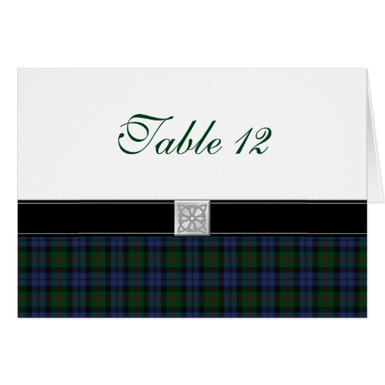 Baird Tartan Special Occasion Table Card